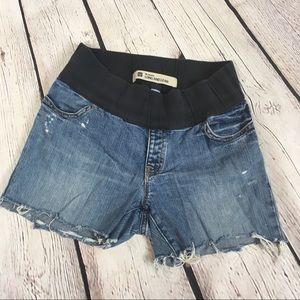 Gap Maternity cut off jean shorts